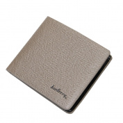 Small Leather Men Purse Business Card Holder Bifold Pocket Wallet Billfold