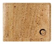 Cork Wallet Coin Pocket, RFID Blocking Vegan Wallet for Men, Non-Leather Light Brown Colour
