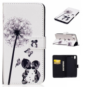 For Huawei Honour 5A Case,Huawei Y6 II Case, Huawei Y6 2 Case [with Free Screen Protector], Qimmortal(TM) Premium PU Leather Wallet Case Stand Book Type Style Cover with [Lanyard Strap] and [Credit Card Holders Slots] Flip Folio Magnetic Detachable But ..