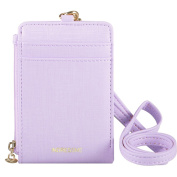 Indressme Womens Cute Candy Colour Bifold ID Badge Holder with Lanyard Wallet