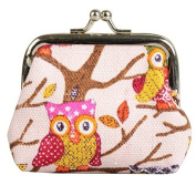 Owl Coin Money Bag Purses & Coin Pouches for Women and Girls