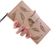 Franchen Women Wallet Fashion Clutch Hollow Tree Leaf Zipper Wallet Card Coin Purse