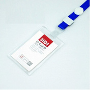 Interesting® Transparent Acctrend ID Card Badge Holder, Crystal Acrylic Holder with Lanyard Acrylic Card Badge Holder With Lanyard for School Office