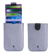 LANDRiND DAX Ultra Thin Card Sleeve Wallet Front Pocket Card Holder with Pull Tab Design