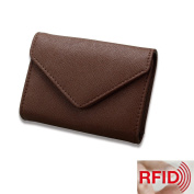 MuLier RFID Blocking Womens Leather Card Case Wallet Envelope Card Wallet Purse