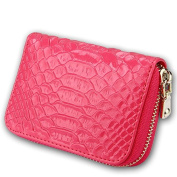 MuLier Genuine Leather Embossed Texture Women Card Holder Cash Purse