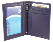 Slimline Soft Leather Credit Card Wallet/Travel/Holder with Twin ID Windows