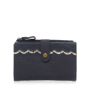 Mantaray Womens Navy Scallop Trim Fold Over Purse