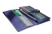 MuLier Full-grain Weave Genuine Leather Snap Women Wallet£¨Lavender)