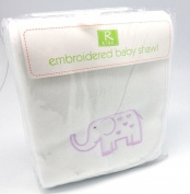 Best Friends Embroidered Baby Shawl / Blanket