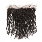 Rosabeauty Peruvian Tight Curly Remy Hair Lace Frontal 13x 4 Swiss Lace With Natural Hairline 100% Human Hair