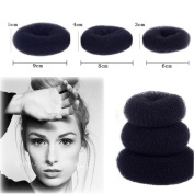 BinaryABC Hair Donut Bun Maker ,3pcs