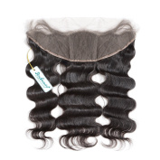 NEW Free Part Brazilian Hair Lace Frontal Closure Loose Wave 33cm x 10cm With Baby Hair Swiss Lace Shipping Free