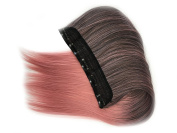 Prettybuy 23cm x 60cm Synthetic Clip in Hair Extensions Straight Ombre Hair Extension Clip on Hairpieces