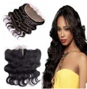 100% human hair body wave Natural Black Brazilian virgin hair with baby hair