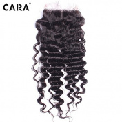 CARA Lace Closures Brazilian Deep Wave With Closure Bleached Knots Cheap Closures With Middle Part Lace Closure