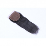 20cm Straight 4x 4 Free Part Lace Closure Virgin Human Hair Nature Black