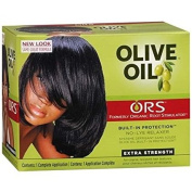 ORS Olive Oil Built-In Protection No-Lye Hair Relaxer System Extra Strength - 3PC