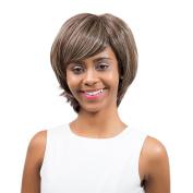 JYS365 Women Short Full Wig Curl Lightweight High-Temperature Fibre Hair Hairpiece