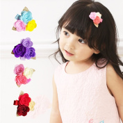 Baby Girl Mini Rose Flower Hair Clips Toddlers Christmas Party Hair Style