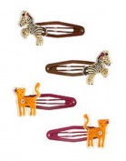 Zebra and Lioness Snap Clip Four-Pack Barrettes by Gymboree