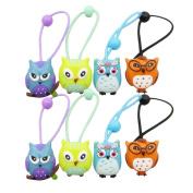 New Pattern Durable Owl Hair Holder Girl Toddler Hair Holder Colourful Owl Girl's Hair Rope Ponytail Kids Holder Elastic 8Pcs