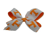 Tennessee Volunteers NCAA Two Tone Hair Bow with Barrette