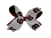 South Carolina Gamecocks NCAA Two Tone Hair Bow with Barrette