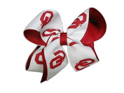 Oklahoma Sooners NCAA Two Tone Hair Bow with Barrette