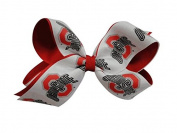 Ohio State Buckeyes NCAA Two Tone Hair Bow with Barrette