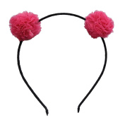 Cute Ball Hair Headband for Kids Girls Adorable Cosplay Holiday Hair Accessories