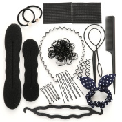 Youngman Hair Styling Set Hair Styling Accessories Kit Set Hair Bun Former Maker for DIY Hair Style