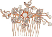 Nina Women's Ladee Rose Gold/Crystal/Pearl Hair Clip