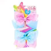 JoJo Siwa JoJo Siwa Small Pink & Blue Ombre Rhinestone Bestie Hair Bows Girls Blue/Pink OneSize