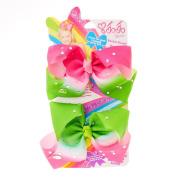 JoJo Siwa JoJo Siwa Small Watermelon Rhinestone Bestie Hair Bows Girls Green/Pink OneSize