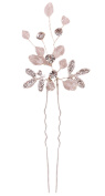 MANDI HOME Bridal Handmade Crystal Hair Pins Clips for Women Hair Styling Flexible Hairpins For Thick Hair