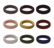100Pcs Womens Ponytail Holder Hair Elastic Ties Assorted Colours