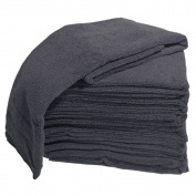 Burmax Soft 'n Style 10 Piece Microfiber Towel, Black, 41cm x 70cm