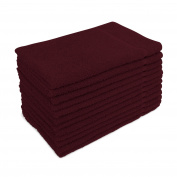 for Altima Plus Bleach Safe Salon Towels, Burgundy, Pack of 12