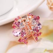Jinri Women Crystal Hair Clip Butterfly Hairpin Rhinestone Plastic Headwear Claw Clamp