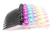10pcs/set Girls Colourful Resin Tiara Comb Hair Fork Bridal Hair Piece Hair Accessories