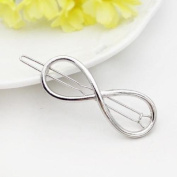 Jinri Details about Fashion Women Silver Geometry Triangle Hairpin Hair Clip Hair Accessories
