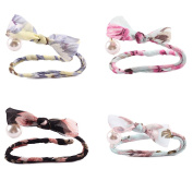 Raylans 4PCS Womens Hair Device Pearl Ribbon Bun Hair Accessory, #1