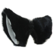 Happylifehere Long Fur Fox Cat Ears Hair Clip Anime Neko Cosplay Halloween Costume