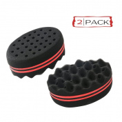Elite99 Double Side Twists Hair Sponge Foam Brush Comb Locking Twist Coil Afro Hair