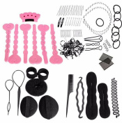 Cuhair Magic Hair Styling Accessories Set Pin Hair Bun Maker Comb Wavy Hoop Styling Tools for Women Girl Gift Headwear