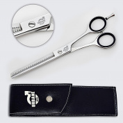 Professional Hairdressing Thinning Scissors 18cm Inch with Leather Case