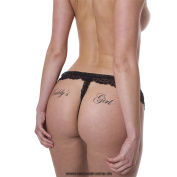 "10 x ""Daddy`s Girl"" temporary tattoo letting in black - Fetish kinky tattoo"