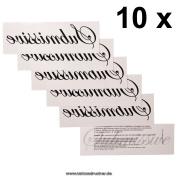 "10 x ""Submissive"" Tattoo lettering in black - Sexy Kinky BDM Tattoo"