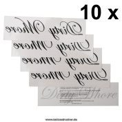 """10 x """"Dirty Whore"""" temporary tattoo letting in black - Fetish kinky tattoo"""